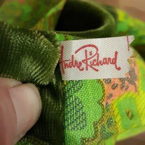 Vintage Designer Andre Richard Makeup Roll Bag.